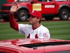 Manager Mike Matheny on Opening Day. 4-08-13