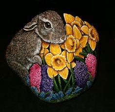 Visit the post for more....beautiful bunny and flowers!
