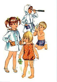 Vintage 1960s Toddler Swimwear Pattern by RebeccasVintageSalon, $5.00