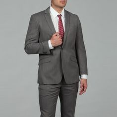 @Overstock - A neat herringbone design in a black and white color scheme adds a distinctive look to this men's suit from Kenneth Cole. This two-piece suit includes unlined flat front trousers, and a single-breasted jacket with notched lapels.http://www.overstock.com/Clothing-Shoes/Kenneth-Cole-Reaction-Mens-Slim-Fit-Suit/6517179/product.html?CID=214117 $108.99