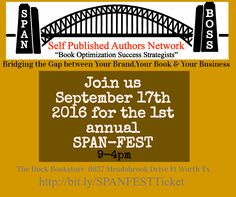 """SPAN (Self Published Authors Network) """"Bridging the Gap Between Your Brand, Your…"""