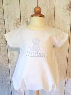 Monogrammed Bubble, Monogrammed Romper, monogrammed onesie, Baby Boy Outfit, embroidered onesie, dog onesie, shadow embroidery by JulieAnneMonograms on Etsy https://www.etsy.com/listing/265677388/monogrammed-bubble-monogrammed-romper