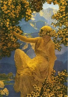Maxfield Parrish, Illustration for Djer-Kiss Perfume advertisement [detail], 1916.