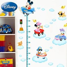 Disney Mickey & Friends Driving Cars Growth Chart Wall Decal