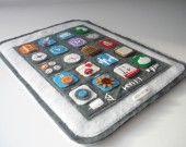 Etuis en feutrine pour Ipad MINI (blanc) : Housses ordinateurs et tablettes par latelierdeluluu