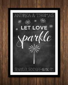 Sparkler Sendoff wedding print  DIGITAL or by ReaganistaDesigns, $5.00
