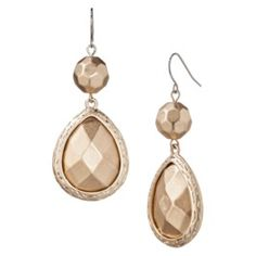 Double Drop Earring - Gold $10.48