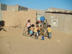 Niños saharauis, campamentos de refugiados