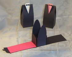 24 Tuxedo Favor Box Wedding Groom Reception Shower Prom - Favors & Party Bag Fillers