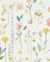 Tapet Field of Flowers White från Room Seven - Tapetorama Display, Bedroom Ideas, Flowers, Pattern, Backgrounds, Block Prints, Wall Papers, Paper Envelopes, Floor Space