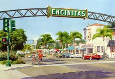 Beautiful painting of Encinitas/ love this town.