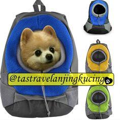 Tas Ransel untuk membawa peliharaan kesayangan anda berpegian, bisa untuk kucing atau anjing, dengan model yang fashionable, aman, kuat, dan awet.  Bahan: kulit sintetis Jenis: ransel Ukuran: kecil (30 * 38 * 14 cm max 3 kg) dan besar (40 * 40 * 17 cm Max 6 kg) Warna : Hijau, Biru dan Kuning (warna bisa request, tetapi jika warna yang direquest kosong akan diberikan warna yang ready stock/available)  >> READY STOCK SIAP KIRIM <<