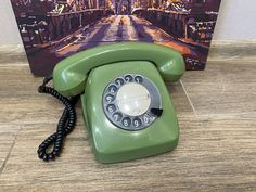 Vintage green phone, Old rotary phone, Circle dial rotary phone, Vintage landline phone, Old Dial Desk Phone, Retro phone, Home phone Retro Phone, Home Phone, Vintage Green, Rotary, Landline Phone, Telephone, Tracking Number, Desk, Running