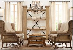 HA!  Cote De Texas' take on Restoration Hardware's New Line of unupholstered furniture