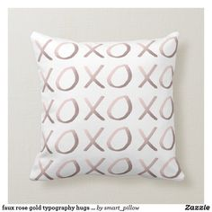 faux rose gold typography hugs and kisses xoxo throw pillow Girly Bedroom Decor, Love Hug, Gold Hands, Custom Pillows, Free Sewing, Hugs, Kisses, How To Draw Hands, Typography