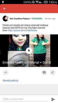 Check out simple yet classy emerald makeup tutorial and OOTD on my YouTube channel here:http://youtu.be/L07IjA9xEXs