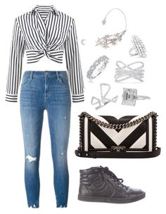 """""""Untitled #1645"""" by cecily-stagrum-buch on Polyvore featuring J Brand, T By Alexander Wang, Chanel, EF Collection, Effy Jewelry, Karl Lagerfeld and Anita Ko"""