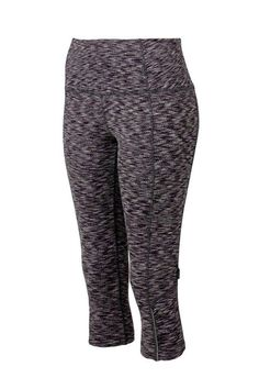 MONDETTA WOMENS THE LOOK ACTIVE CAPRI GLANCE PANT (M, Violet Snake) -- Awesome products selected by Anna Churchill