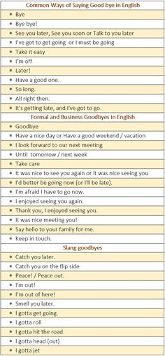 Don't Be a Word Bore: Alternative Ways to Say Goodbye. - learn English,vocabulary,communication,english