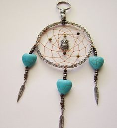 Beaded Dream Catcher Keychain by DawnsClayFantasy on Etsy, $9.50