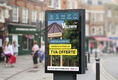 Entreprise auboise créée en 1958, la société Villemin a su s'imposer sur le marché des vérandas, fenêtres, portails ainsi que des accessoires et dérivés. Régulièrement une campagne print est mise en place avec flyers, affiches, 4x3, bâches pour informer des portes ouvertes ou promotions.
