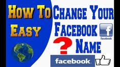 How To Change Facebook Name 2019 So Easy F Names, You Changed, Facebook, Easy, Youtube, Youtubers, Youtube Movies