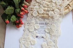 5 yards/lot  DIY Gauze Bilateral Embroidery Flower Mesh Lace Trim Lace Fabric Textiles Black White 11.7cm Clothes Accessories #Affiliate