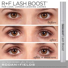 Lash Boost helps your lashes grow fuller, longer, stronger, and darker in a matter of weeks! I have gone from wearing false lashes consistently to sometimes not even wearing mascara out! Eyelashes How To Apply, Applying False Eyelashes, Applying Eye Makeup, Longer Eyelashes, Long Lashes, False Lashes, Lashes Grow, Rodan Fields Lash Boost, Rodan And Fields