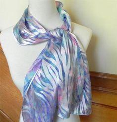 Long hand dyed Devore satin silk