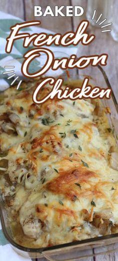 Easy Baked Chicken, Easy Chicken Dinner Recipes, Baked Chicken Recipes, Entree Recipes, Meat Recipes, Cooking Recipes, French Chicken Recipes, Chicken Breats Recipes, Recipes