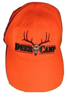 1586ffd8a25 Deer Camp 06 hunting cap hat embroidered blaze orange strapback mint  Paramount  fashion  clothing