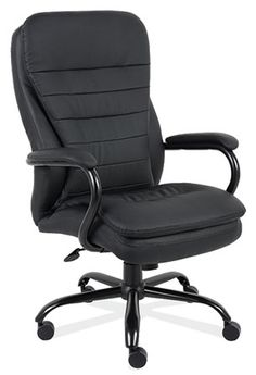 Big-N-Tall Seating - #991 Executive Swivel w/Black Frame. Upholstery In Stock: Black Leather-Soft Vinyl.