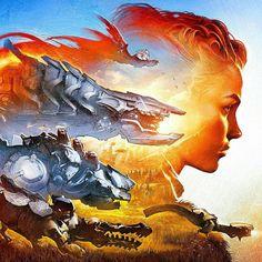 Horizon: Zero Dawn wallpaper by De-monVarela #Horizon #HorizonZeroDawn #Gaming #PS4 #ConceptArt #Art #GameArt #Robots #Fantasy #Scifi #Illustration