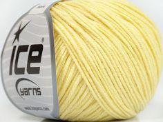 Fiber Content 50% Acrylic 50% Cotton Light Yellow Brand Ice Yarns fnt2-43073