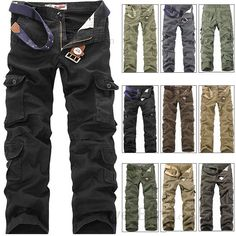 Aliexpress.com : Buy Men's 'Petrol' Cargo Pant Long Cotton Pants ...