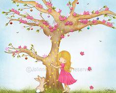 Childrens Art Print Kids Room Decor Poster Print by jolinne