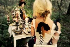 Most popular tags for this image include: chloe barcelou, alice in wonderland, fantasy, mad hatter and model