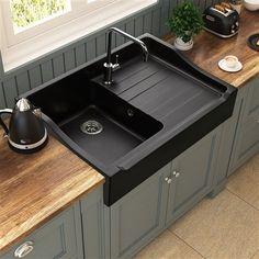 31 Modern Kitchen Concepts Every House Cook Demands to See Kitchen Sink Design, Luxury Kitchen Design, Farmhouse Sink Kitchen, Home Decor Kitchen, Interior Design Kitchen, Home Room Design, House Design, Cuisines Design, Kitchen Remodel