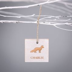 Are you interested in our personalised fox white christmas decoration? With our fox decoration you need look no further.