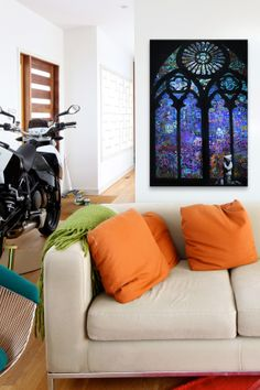 Stained Glass Window II by Banksy Canvas Print on HauteLook