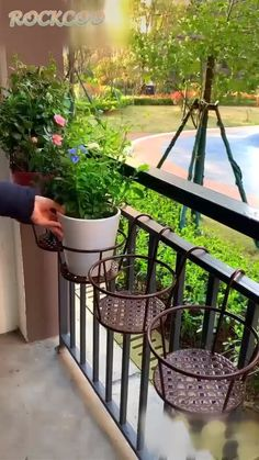 Balcony Decor European Style Railing Potted Stand These garden layou. - Balcony Decor European Style Railing Potted Stand These garden layout ideas are step to -