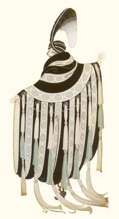 Costume for Gaby Deslys - by Erté aka Romain de Tirtoff (Russian-French, 1892-1990) - @~ Mlle