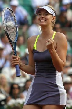 Maria Sharapova Tops List Of The World's Highest-Paid Female Athletes(she is my favorite) loving her tennis dress really suits her👗🌼 Mode Tennis, Sport Tennis, Play Tennis, Maria Sharapova, Sharapova Tennis, Ana Ivanovic, Tennis Dress, Tennis Clothes, Caroline Wozniacki