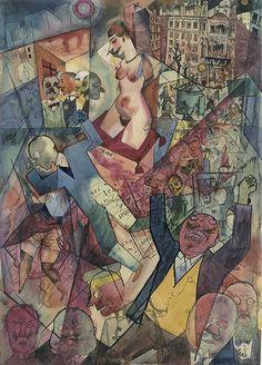 Portrait of turmoil … George Grosz's Down with Liebknecht, 1918. Courtesy Richard Nagy gallery