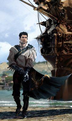 Character Creation, Fantasy Character Design, Character Concept, Character Art, Concept Art, Character Ideas, Fantasy Heroes, Fantasy Male, Fantasy Weapons