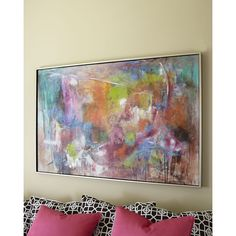 John-Richard Collection Seville Abstract Giclee ($1,500) ❤ liked on Polyvore featuring home, home decor, wall art, painting, multi colors, abstract home decor, giclee painting, abstract oil painting, john richard wall art and colorful paintings