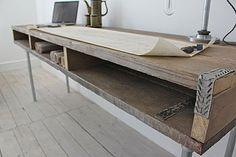 Reclaimed Wood Desk With Steel Legs