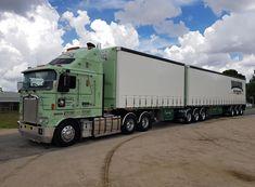 Train Truck, Road Train, Road Transport, Kenworth Trucks, Semi Trucks, Cool Trucks, Buses, Rigs, Cars And Motorcycles