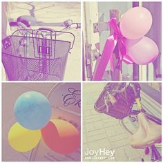 Balloon Biking by JoyHey, via Flickr