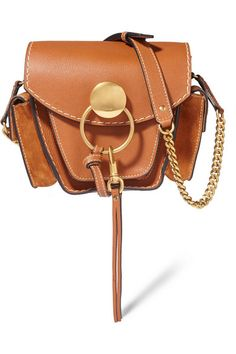 CHLOÉ Jodie Small Leather And Suede Shoulder Bag. #chloé #bags #shoulder bags…